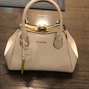 Used, White Cromia satchel for sale